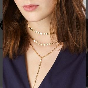 BAUBLEBAR Aimee Y-Layered chain necklace